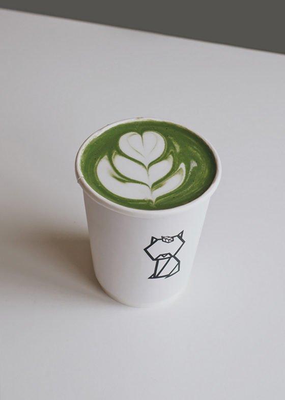 Hot Kiku Matcha Latte