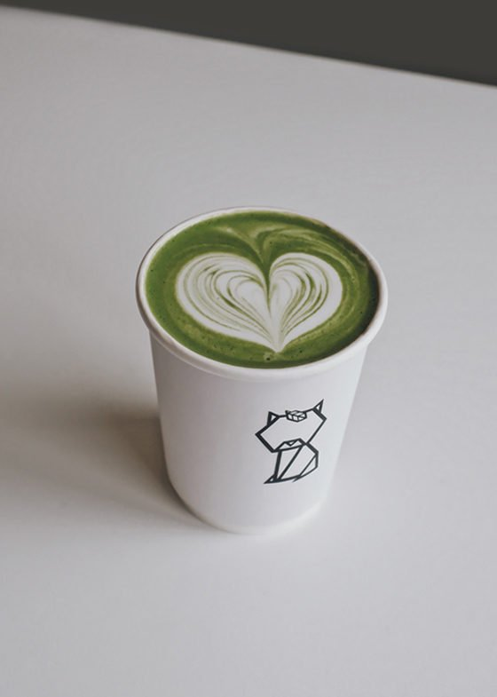 Hot Mokuren Genmaicha Latte