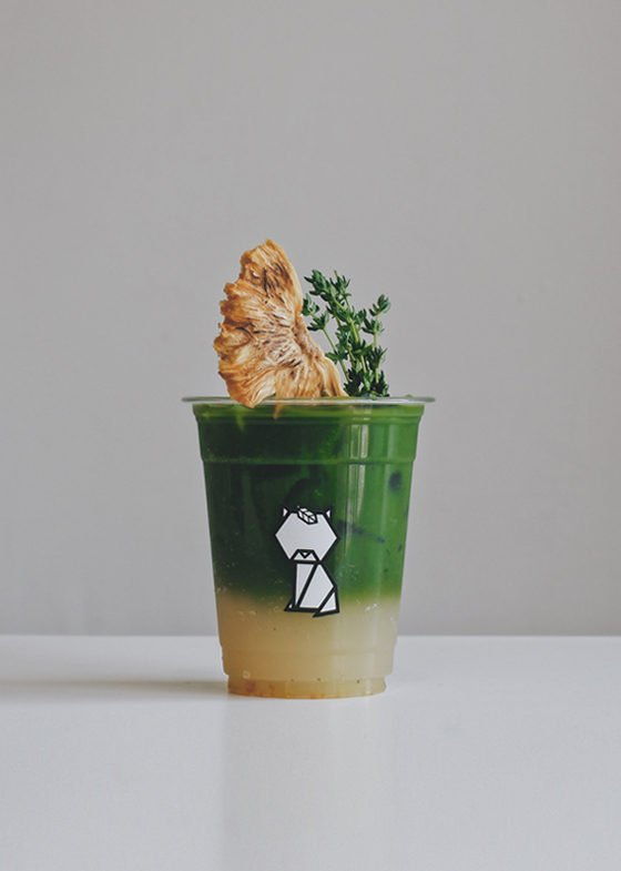 Matcha Pineapple Yuzu Mocktail