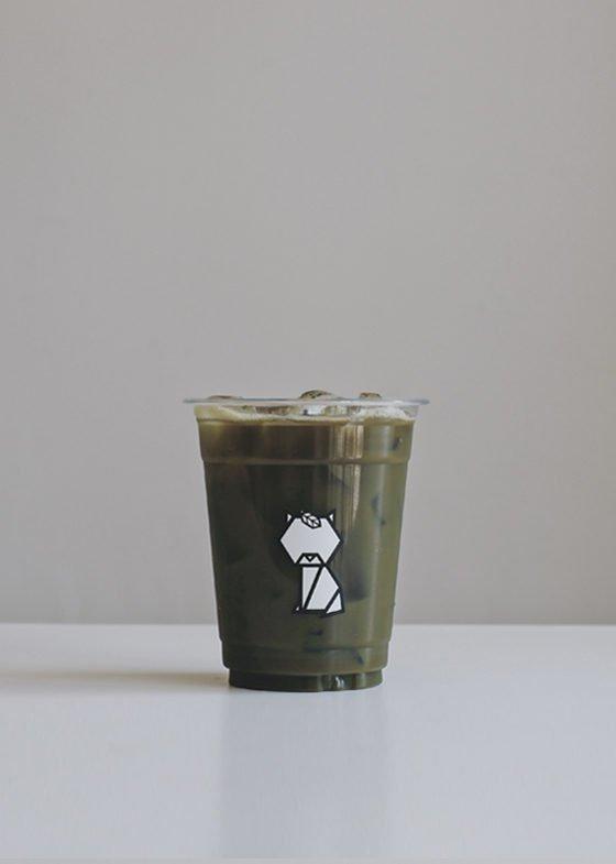 Iced TSUBAKI Houjicha Latte