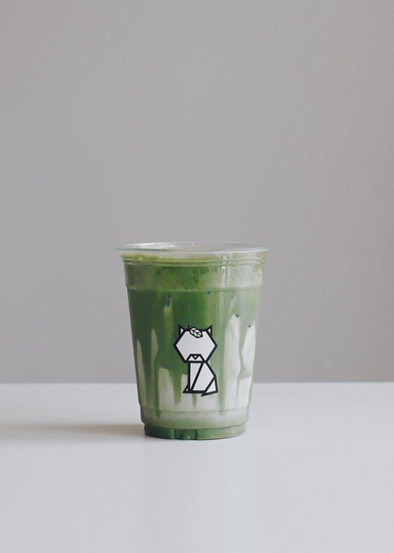 Iced Genmaicha Latte