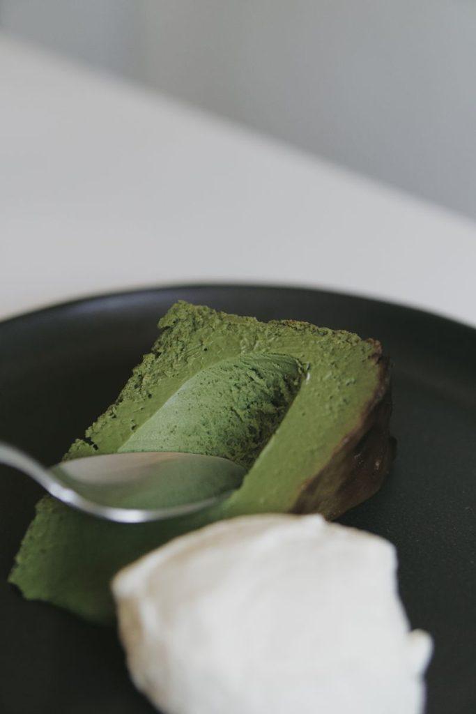 The Tokyo Restaurant Matcha Burnt Cheesecake Recipe - Niko Neko Matcha Dessert Recipes using YURI / Matcha Powder